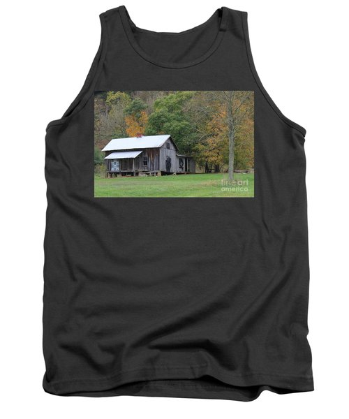 Ye Old Cabin In The Fall Tank Top