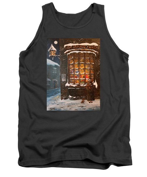 Tank Top featuring the painting Ye Old Toy Shoppe by Jean Walker