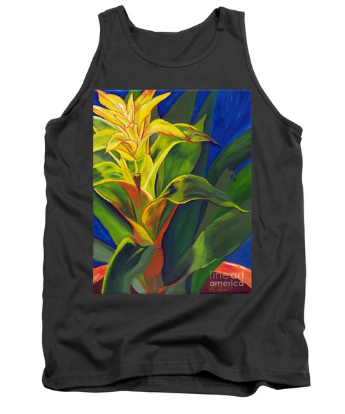 Yellow Bromeliad Tank Top
