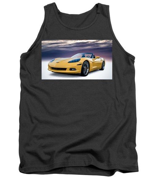 Yellow Corvette Convertible Tank Top by Douglas Pittman