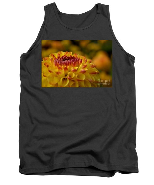 Yellow Dahlia Red Tips Tank Top