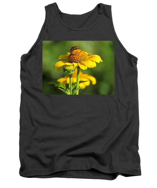 Yellow Daisy Tank Top by David T Wilkinson
