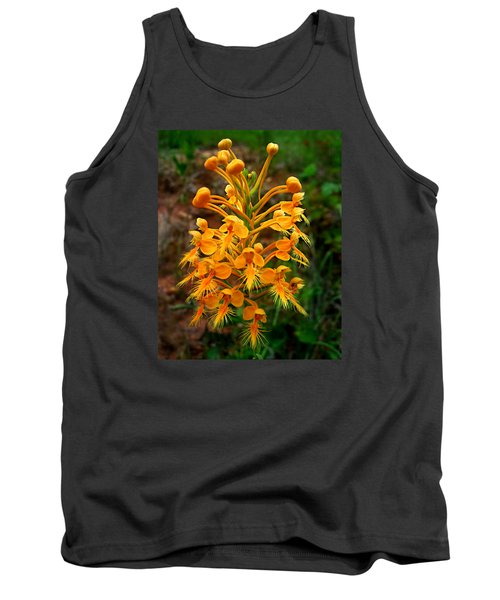 Tank Top featuring the photograph Wild Yellow Fringed Orchid by William Tanneberger