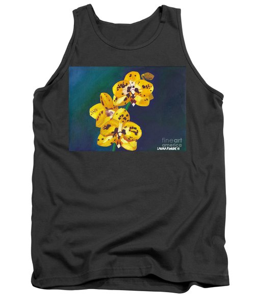 Tank Top featuring the painting Yellow Orchids by Laura Forde