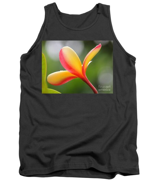 Yellow Pink Plumeria Tank Top