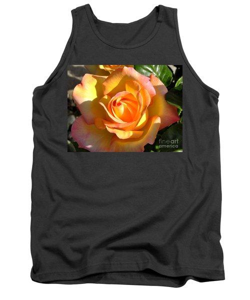 Yellow Rose Bud Tank Top by Debby Pueschel