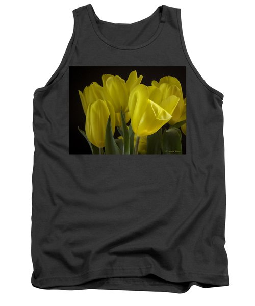 Tank Top featuring the photograph Yellow Silk by Lucinda Walter