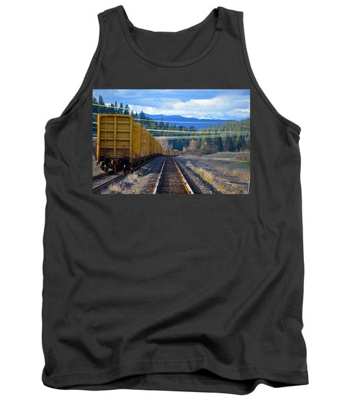 Yellow Train To The Mountains Tank Top