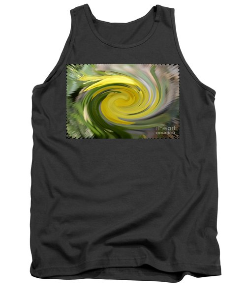 Tank Top featuring the digital art Yellow Whirlpool by Luther Fine Art