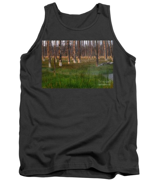 Yellowstone Mysterious Morning Tank Top by Teresa Zieba