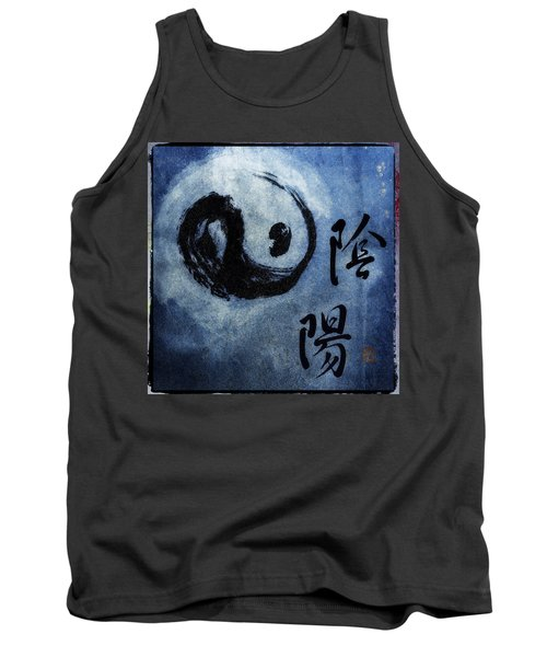 Tank Top featuring the photograph Yin  Yang Brush Calligraphy by Peter v Quenter