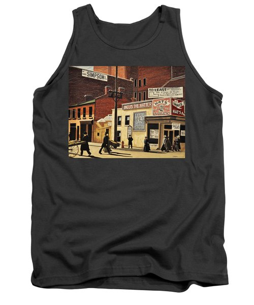 Tank Top featuring the painting Yonge And Richmond Streets 1899 by Kenneth M  Kirsch