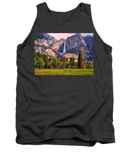 Yosemite Falls Tank Top by Michael Pickett
