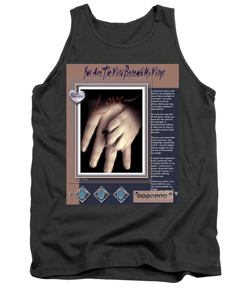 Tank Top featuring the digital art You Are My Hero by Kathy Tarochione