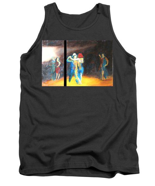 Tank Top featuring the painting You Shine  Diptych by Keith Thue