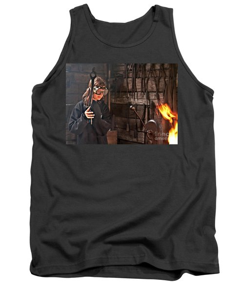 Young Blacksmith Girl Art Prints Tank Top by Valerie Garner