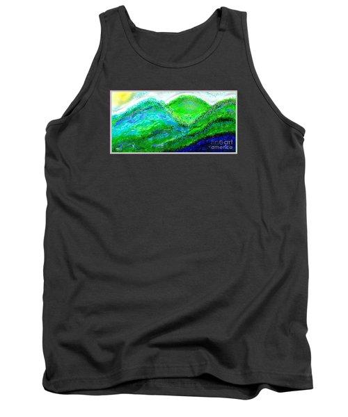 Tank Top featuring the digital art Van Gogh Sunrise by The Art of Alice Terrill