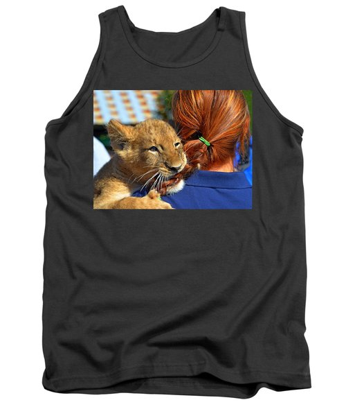 Zootography3 Zion The Lion Cub Likes Redheads Tank Top by Jeff at JSJ Photography