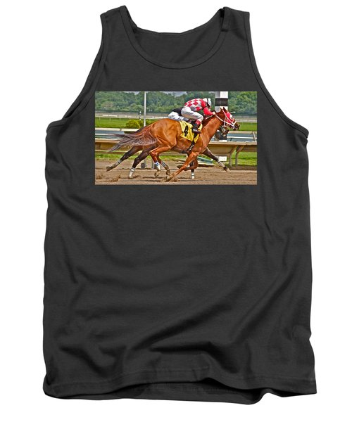 Tank Top featuring the photograph  Betting On Number Four by Alice Gipson