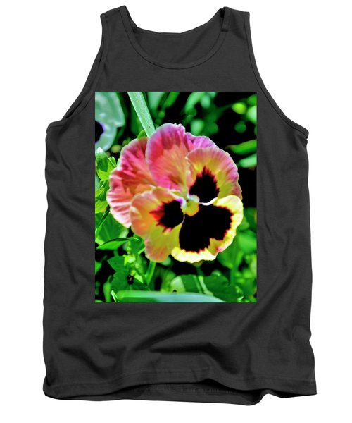 Pink And Yellow Pansy Tank Top