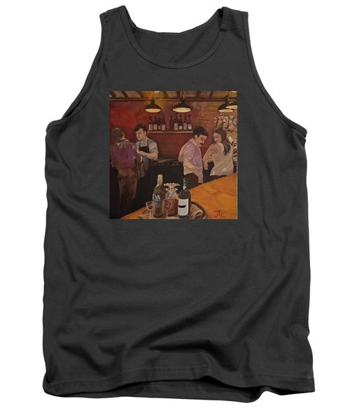 Cafe Tank Top by Julie Todd-Cundiff