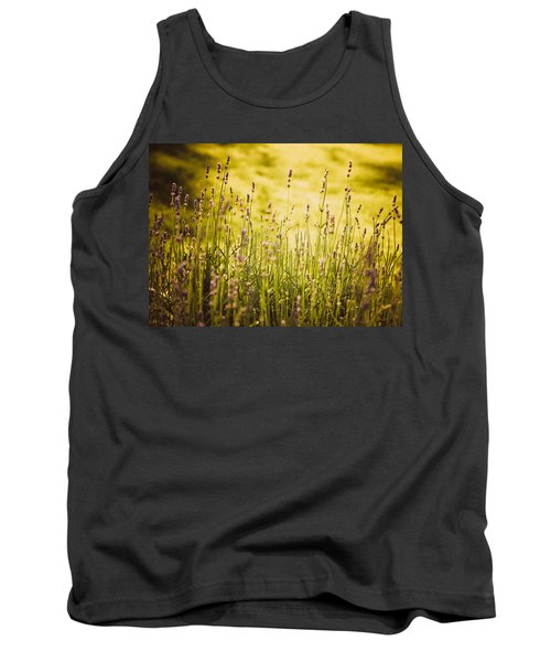 Tank Top featuring the photograph Lavender Gold by Sara Frank