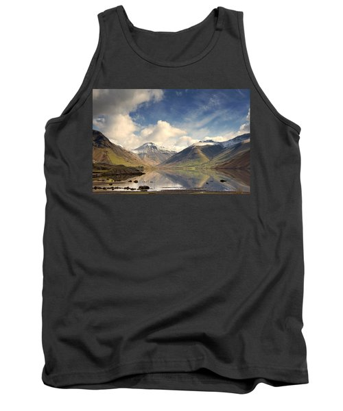 Tank Top featuring the photograph Mountains And Lake At Lake District by John Short