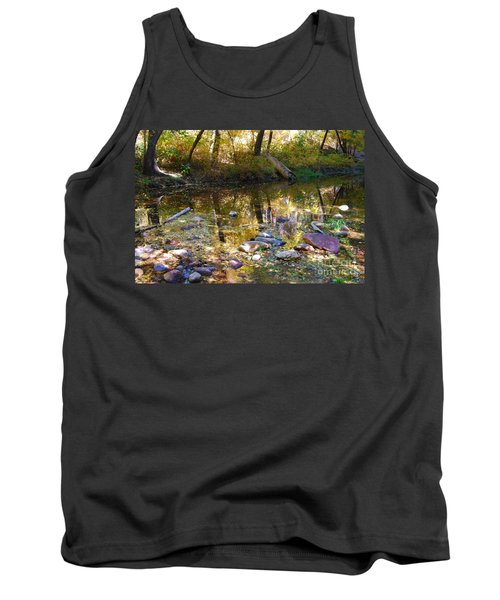 Tank Top featuring the photograph Oak Creek Reflection by Tam Ryan