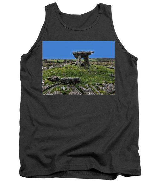 Tank Top featuring the photograph Poulnabrone Dolmen by David Gleeson