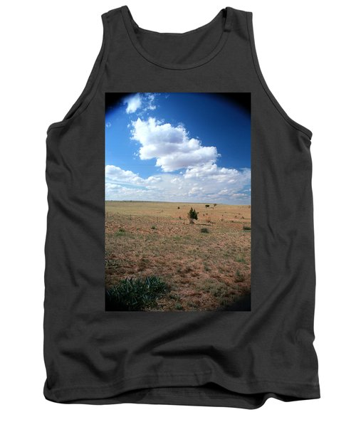 Tank Top featuring the photograph Somewhere Off The Interstate In New Mexico by Lon Casler Bixby