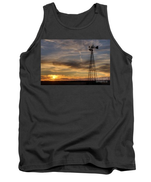 Windmill And Sunset Tank Top
