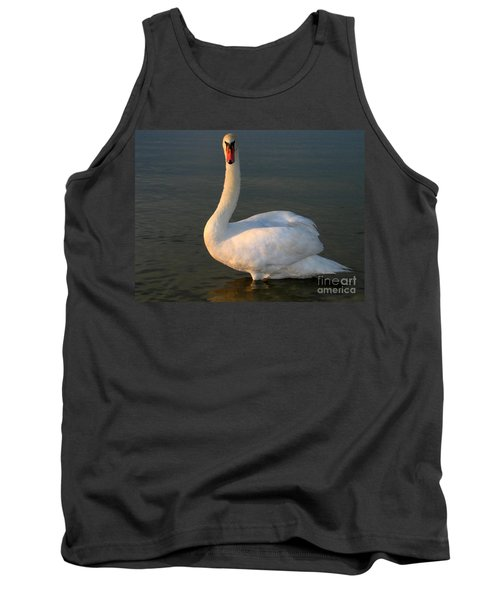 Tank Top featuring the photograph Swan by Odon Czintos