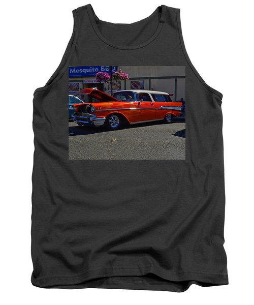 Tank Top featuring the photograph 1957 Belair Wagon by Tikvah's Hope