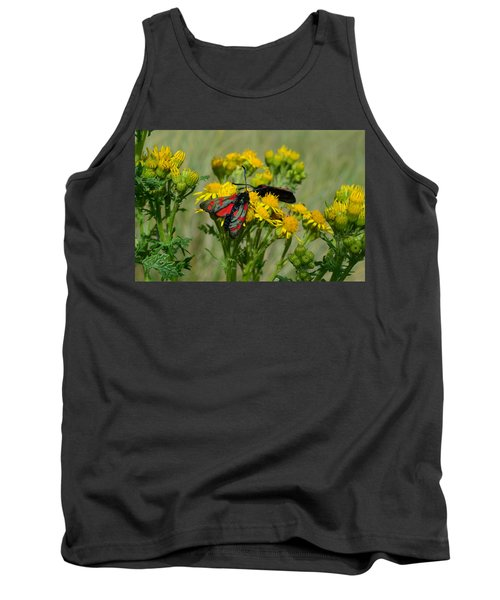 Tank Top featuring the photograph 6 Spot Burnet by Barbara Walsh