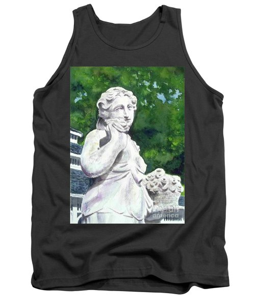 Tank Top featuring the painting A Statue At The Wellers Carriage House -1 by Yoshiko Mishina