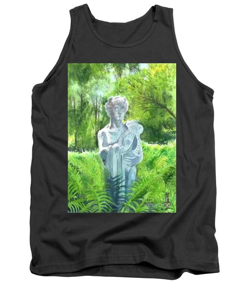 Tank Top featuring the painting A Statue At The Wellers Carriage House -4 by Yoshiko Mishina