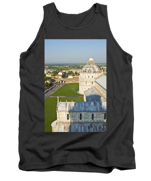 A View From The Bell Tower Of Pisa  Tank Top
