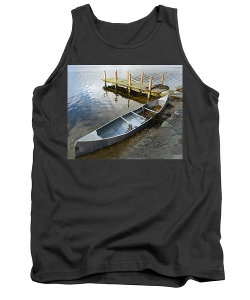 Tank Top featuring the photograph Abandoned Canoe by Lynn Bolt