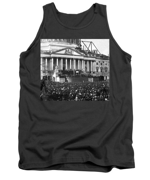 Tank Top featuring the photograph Abraham Lincolns First Inauguration - March 4 1861 by International  Images