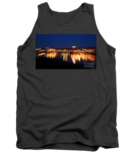 Abstract - City Lights Tank Top by Sue Stefanowicz