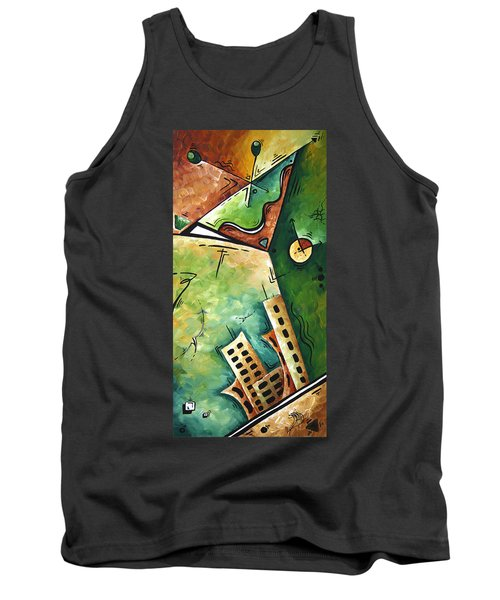 Abstract Martini Cityscape Contemporary Original Painting Martini Hour By Madart Tank Top