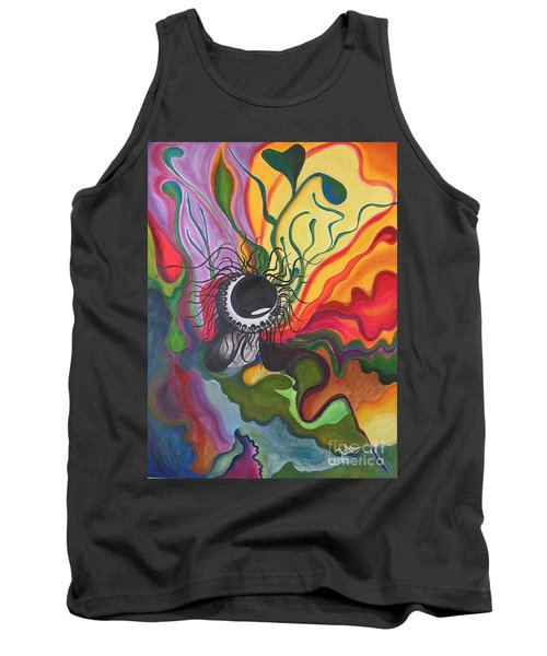 Abstract Underwater Anemone Tank Top
