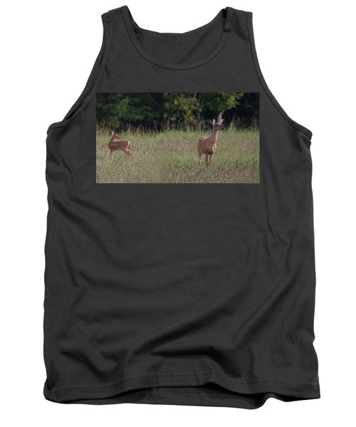 Alert Doe And Fawn Tank Top