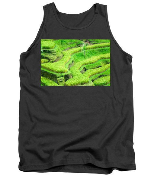 Tank Top featuring the photograph Amazing Rice Terrace Field by Luciano Mortula