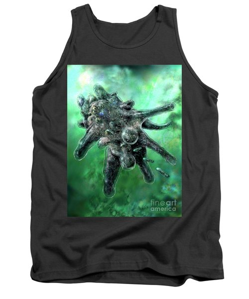 Amoeba Green Tank Top