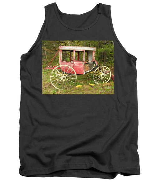 Tank Top featuring the photograph Old Horse Drawn Carriage by Sherman Perry