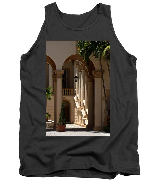 Tank Top featuring the photograph Arches And Columns At The Biltmore Hotel by Ed Gleichman