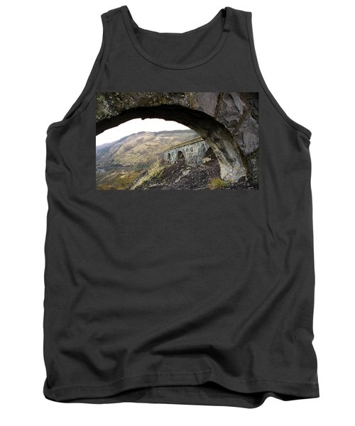 Tank Top featuring the photograph Arches And Mountains by Steve McKinzie