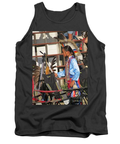 Tank Top featuring the photograph At Blackfeet Pow Wow 03 by Ausra Huntington nee Paulauskaite