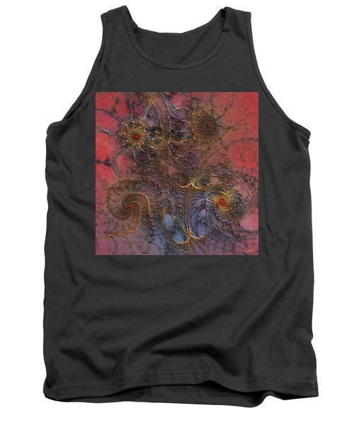 Tank Top featuring the digital art At The Moment by Casey Kotas